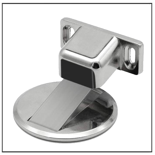 Stainless Steel Magnet Door Stopper Doorstop with 3M Adhesive No Drilling