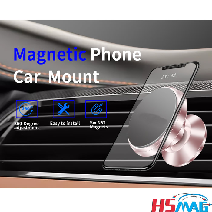 Universal Cell Phone Car Holder Air Vent Magnetic Phone Car Mount