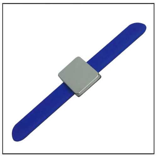Blue Magnetic Hair Clips Adjustable Silicone Bracelet Bobby Pins Wristband