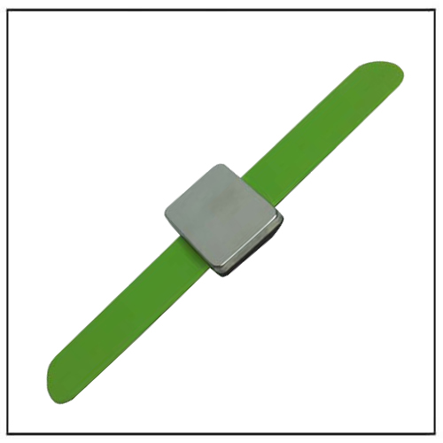 Green Magnetc Wrist Strap Bracelet Hold Bobby Pins And Clips