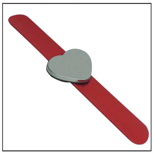 Heart Shape Red HAIR SALON Magnetic Bobby Pin Wrist Band
