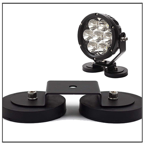 Rubber Covered Magnetic Light Bracket Mount Base Dia 66 88mm