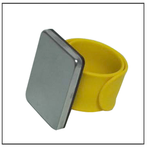 Yellow Color Strap Magnetic Bobby Pin Wristband Wrist Bracelet