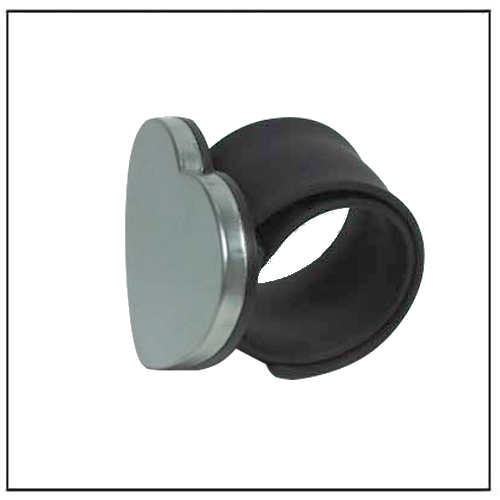 Black Magnetic Bobby Pins Wrist Band Holder w Heart Magnet