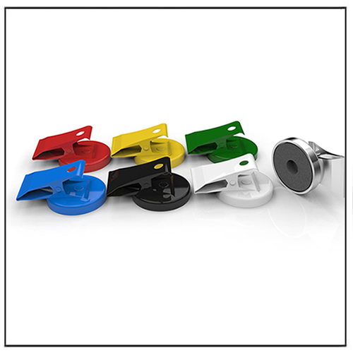 Different Colors Flat Pot Ferrite Magnet Clips