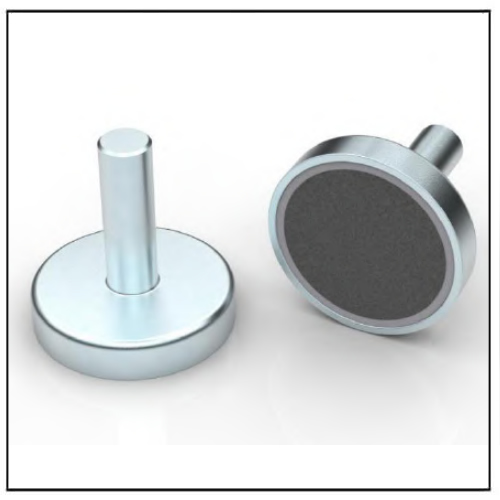 Ferrite Pot Magnet with Metal Rod