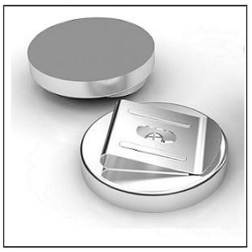 Flat Ferrite Pot Magnet with Buckle Clips