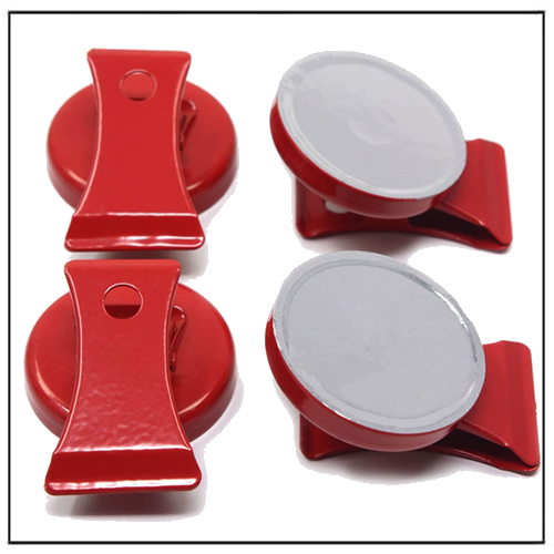Red Magnetic Metal Clips for Refrigerator Whiteboard