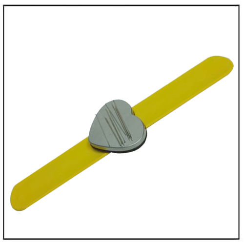 Wrist Band Silicone Magnetic Hair Clip Bobbie Pin Bracelet Yellow