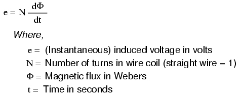 magnetic-field-flux-with-induced-voltage-formula
