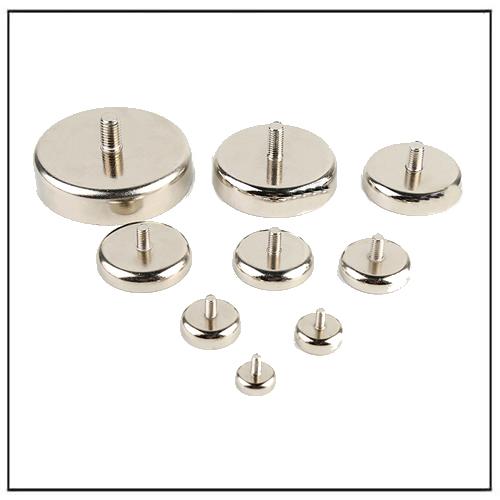 Exterior Thread Neodymium Pot Cap Magnets