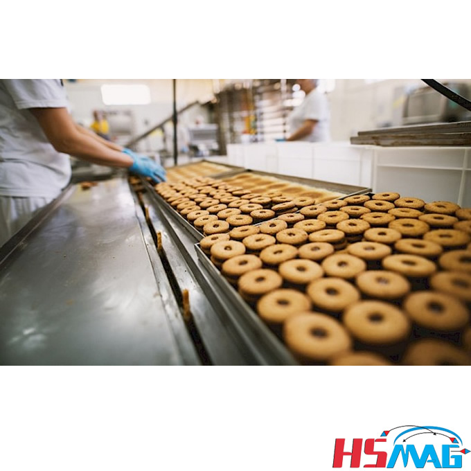 How are magnetic separators used in the industrial food production