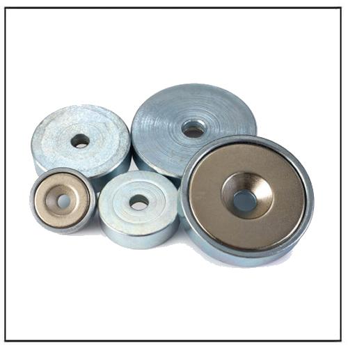 Neodymium Cap Holding Pot Countersunk Magnets