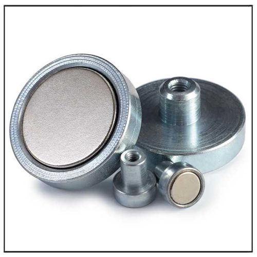 Neodymium Magnetic Systems with Steel Shell and Internal Thread
