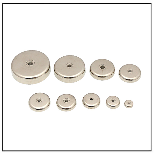 Female Thread Hole Fastened Cup Magnet Neo