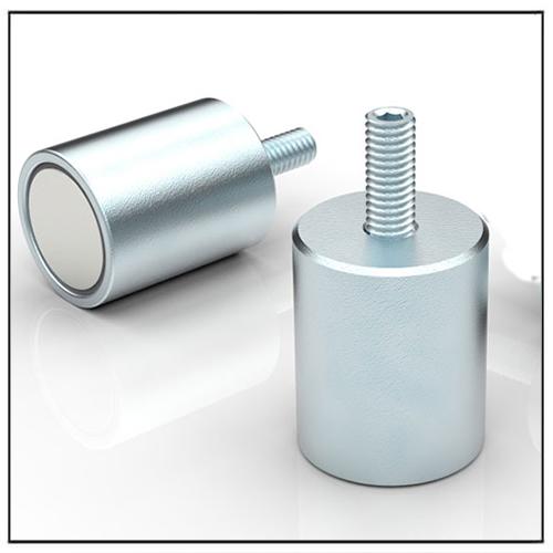 NdFeB Deep Pot Magnet with Threaded Stud