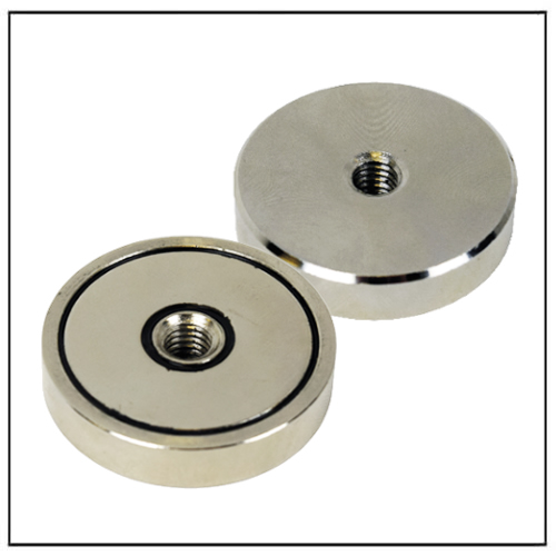 NdFeB Shallow Pot Magnet with Female Thread Hole