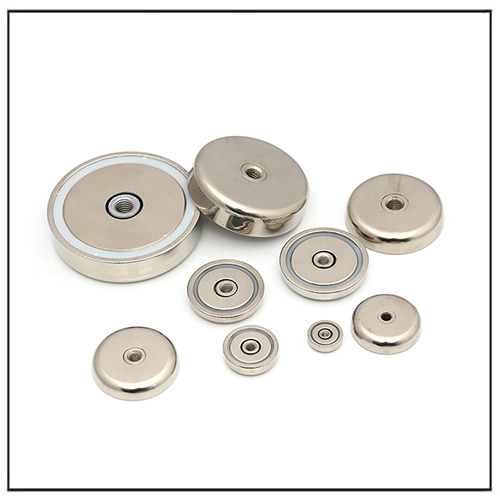 Neodymium Magnetic Pot Assemblies with Internal Threaded Screw Hole