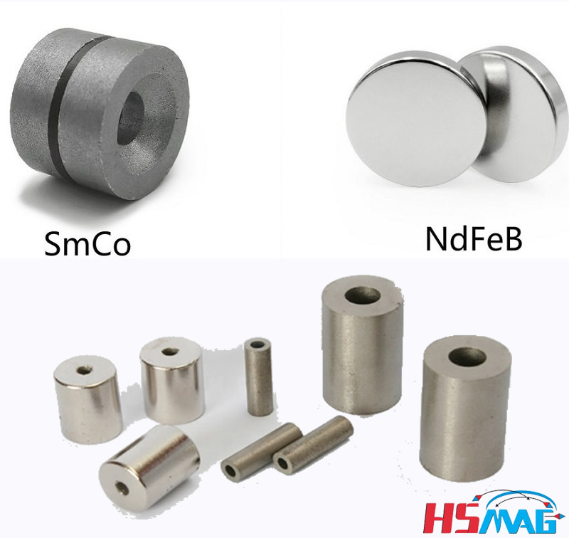 Rare earth element (REE) Nd-Fe-B and Sm-Co permanent magnets