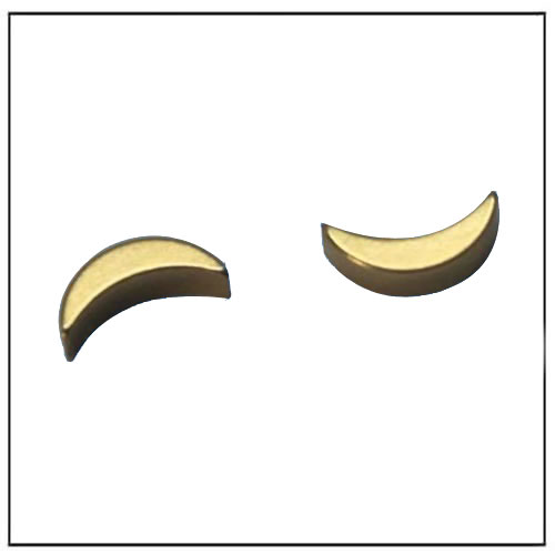 Crescent Shape Neo Custom Ultra Precision Magnet with Gold-plated