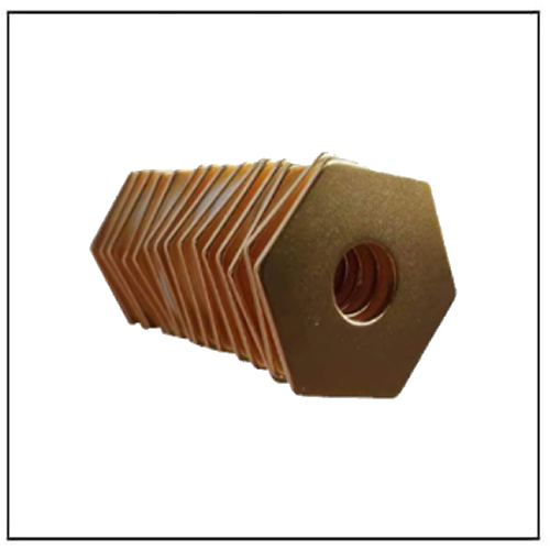 Gold-plated Neo Hexagon Magnets with a Middle Hole Custom Design