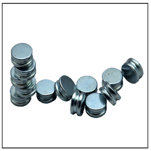 Zinc Plated Slotted Circular Disc N45 Neodymium Magnets