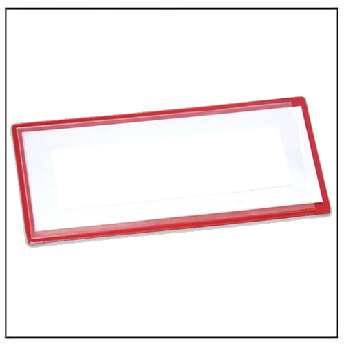 Red Magnetic Labels Holder 110mm x 50mm