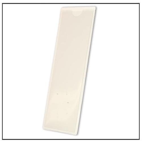 White Magnetic Card Display Holder 210mm