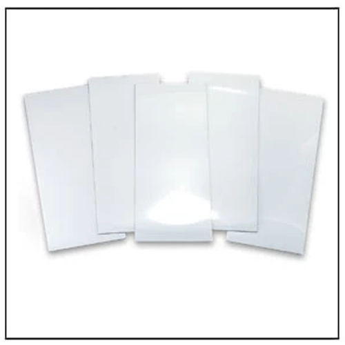White Pre-cut Magnetic Labels 250mm x 100mm